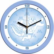 Minnesota Golden Gophers Baby Blue Wall Clock