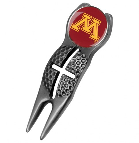 Minnesota Golden Gophers Black Crosshairs Divot Tool