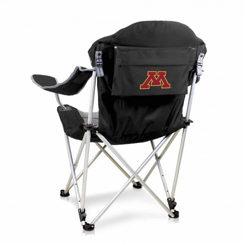 Minnesota Golden Gophers Black Reclining Camp Chair