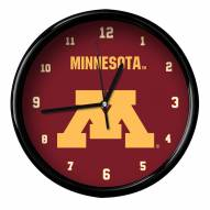 Minnesota Golden Gophers Black Rim Clock