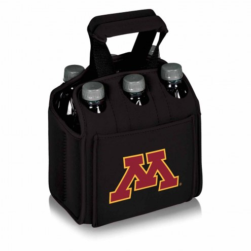 Minnesota Golden Gophers Black Six Pack Cooler Tote