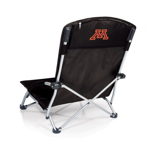 Minnesota Golden Gophers Black Tranquility Beach Chair