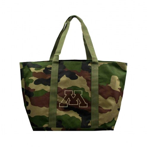 Minnesota Golden Gophers Camo Tote Bag