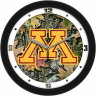 Minnesota Golden Gophers Camo Wall Clock