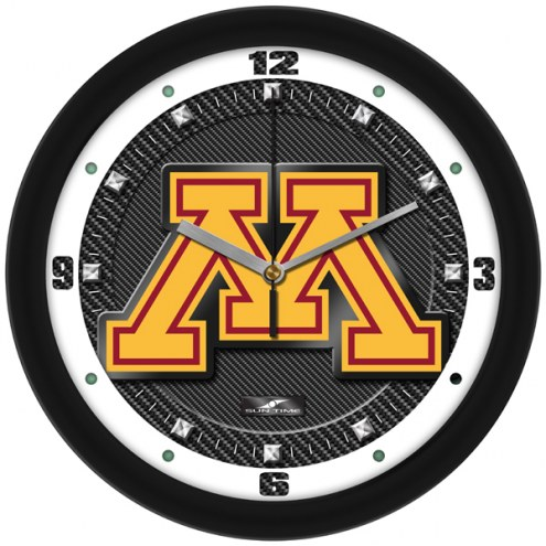 Minnesota Golden Gophers Carbon Fiber Wall Clock