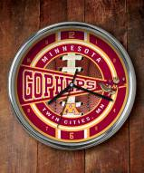 Minnesota Golden Gophers Chrome Wall Clock