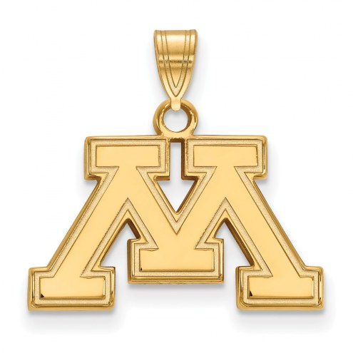 Minnesota Golden Gophers College Sterling Silver Gold Plated Small Pendant