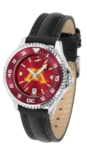 Minnesota Golden Gophers Competitor AnoChrome Women's Watch - Color Bezel