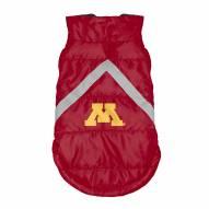 Minnesota Golden Gophers Dog Puffer Vest