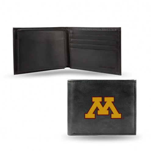 Minnesota Golden Gophers Embroidered Leather Billfold Wallet