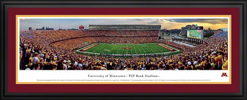 Minnesota Golden Gophers Football Deluxe Framed Panorama