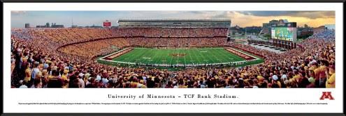Minnesota Golden Gophers Football Standard Framed Panorama