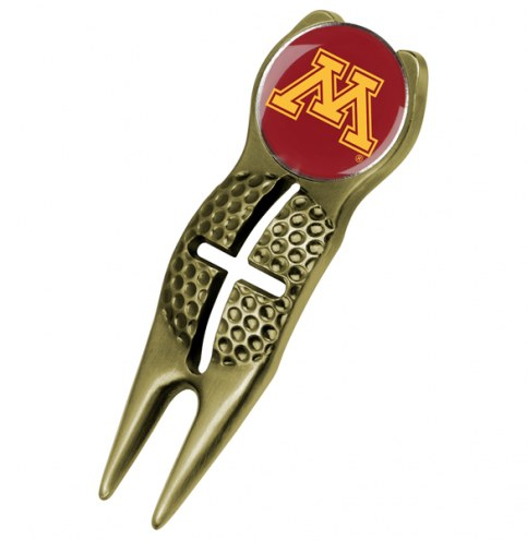 Minnesota Golden Gophers Gold Crosshairs Divot Tool