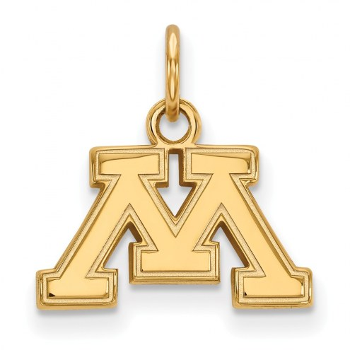 Minnesota Golden Gophers Sterling Silver Gold Plated Extra Small Pendant