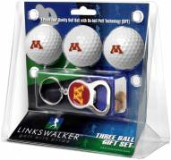 Minnesota Golden Gophers Golf Ball Gift Pack with Key Chain