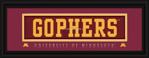 "Minnesota Golden Gophers ""Gophers"" Stitched Jersey Framed Print"