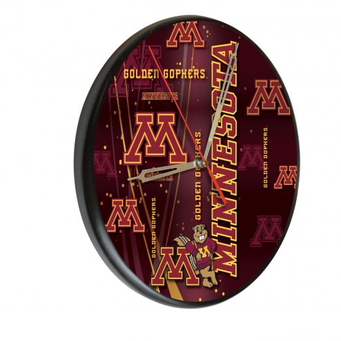 Minnesota Golden Gophers Digitally Printed Wood Clock