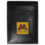 Minnesota Golden Gophers Leather Money Clip/Cardholder in Gift Box