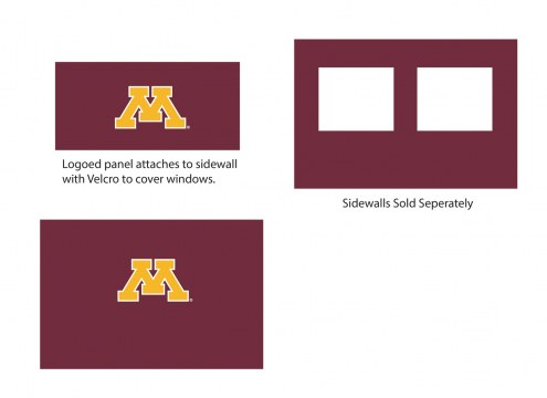 Minnesota Golden Gophers Logo Canopy Sidewall Panel (Attaches to Window Sidewall)