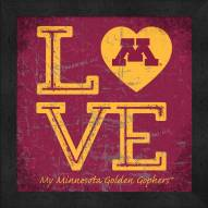 Minnesota Golden Gophers Love My Team Color Wall Decor