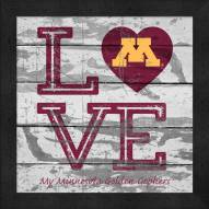 Minnesota Golden Gophers Love My Team Square Wall Decor