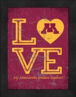 Minnesota Golden Gophers Love My Team Vertical Color Wall Decor