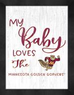 Minnesota Golden Gophers My Baby Loves Framed Print