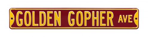 Minnesota Golden Gophers NCAA Embossed Street Sign