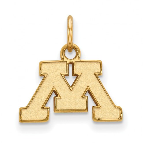 Minnesota Golden Gophers NCAA Sterling Silver Gold Plated Extra Small Pendant