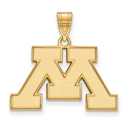 Minnesota Golden Gophers NCAA Sterling Silver Gold Plated Medium Pendant