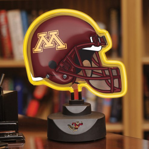 Minnesota Golden Gophers Neon Helmet Desk Lamp