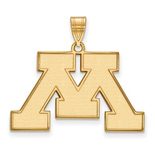 Minnesota Golden Gophers NCAA Sterling Silver Gold Plated Large Pendant
