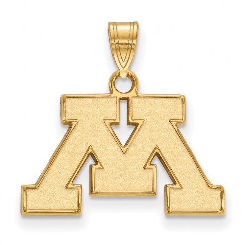 Minnesota Golden Gophers NCAA Sterling Silver Gold Plated Small Pendant
