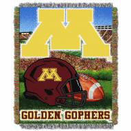 Minnesota Golden Gophers NCAA Woven Tapestry Throw / Blanket