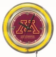 Minnesota Golden Gophers Neon Clock