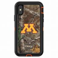 Minnesota Golden Gophers OtterBox iPhone X Defender Realtree Camo Case