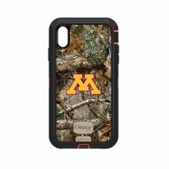 Minnesota Golden Gophers OtterBox iPhone XS Max Defender Realtree Camo Case