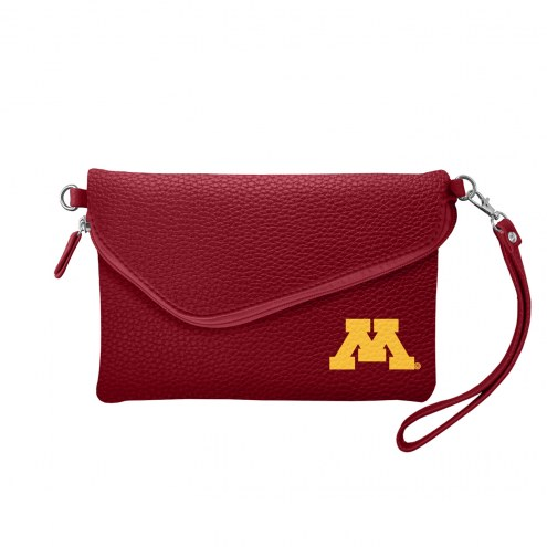 Minnesota Golden Gophers Pebble Fold Over Purse