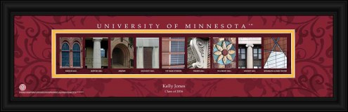 Minnesota Golden Gophers Personalized Campus Letter Art