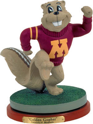 Minnesota Golden Gophers Collectible Mascot Figurine