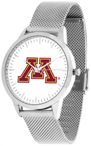 Minnesota Golden Gophers Silver Mesh Statement Watch
