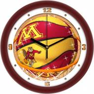 Minnesota Golden Gophers Slam Dunk Wall Clock
