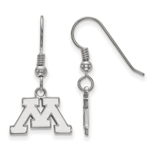 Minnesota Golden Gophers Sterling Silver Extra Small Dangle Earrings
