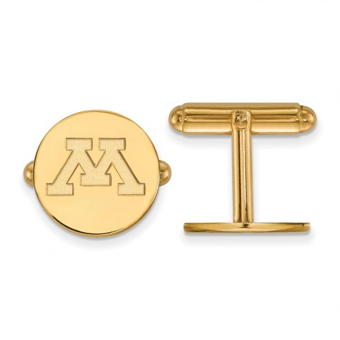 Minnesota Golden Gophers Sterling Silver Gold Plated Cuff Links