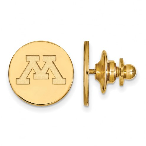 Minnesota Golden Gophers Sterling Silver Gold Plated Lapel Pin