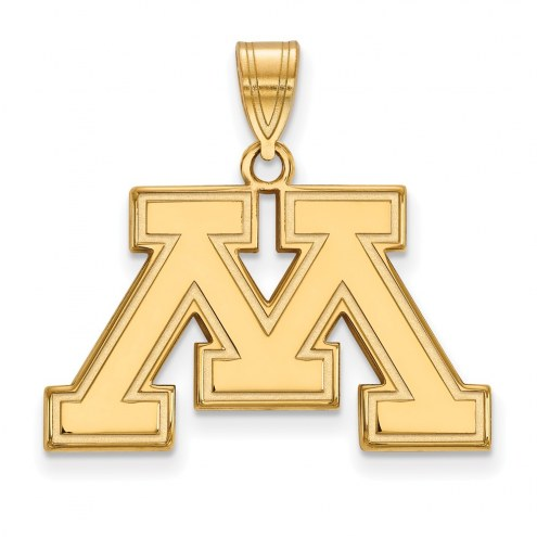 Minnesota Golden Gophers Sterling Silver Gold Plated Medium Pendant