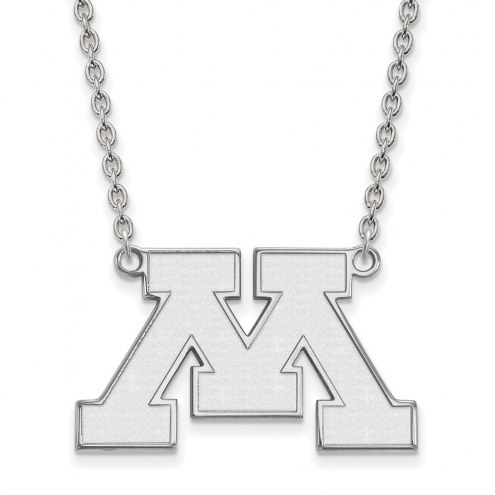 Minnesota Golden Gophers Sterling Silver Large Pendant Necklace
