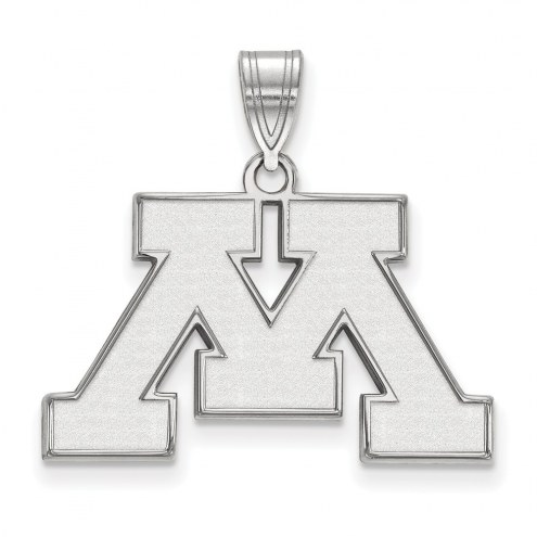 Minnesota Golden Gophers Sterling Silver Medium Pendant