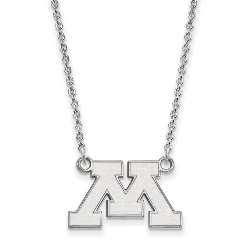 Minnesota Golden Gophers Sterling Silver Small Pendant Necklace