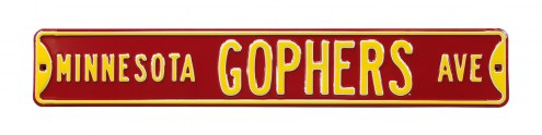 Minnesota Golden Gophers Street Sign